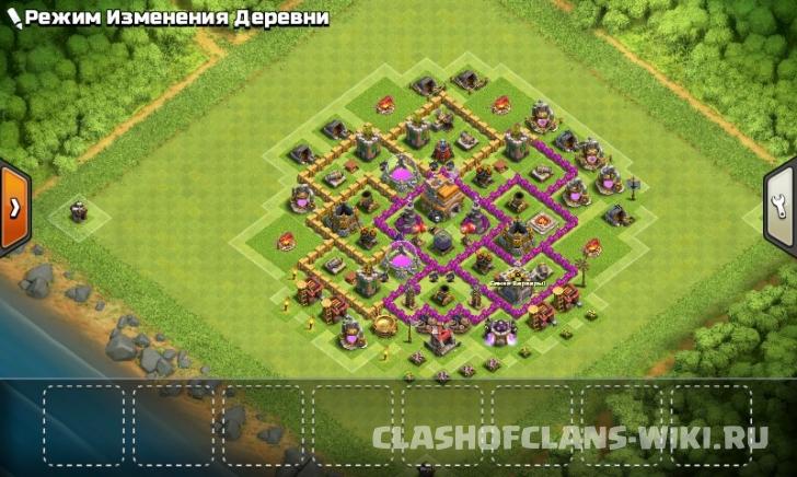 непобедимая база в игре clash of clans тх 7